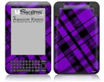 Purple Plaid - Decal Style Skin fits Amazon Kindle 3 Keyboard (with 6 inch display)