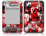 Red Graffiti - Decal Style Skin fits Amazon Kindle 3 Keyboard (with 6 inch display)