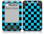 Checkers Blue - Decal Style Skin fits Amazon Kindle 3 Keyboard (with 6 inch display)