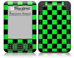 Checkers Green - Decal Style Skin fits Amazon Kindle 3 Keyboard (with 6 inch display)