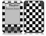 Checkers White - Decal Style Skin fits Amazon Kindle 3 Keyboard (with 6 inch display)