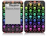 Skull and Crossbones Rainbow - Decal Style Skin fits Amazon Kindle 3 Keyboard (with 6 inch display)