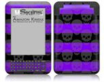 Skull Stripes Purple - Decal Style Skin fits Amazon Kindle 3 Keyboard (with 6 inch display)
