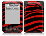 Zebra Red - Decal Style Skin fits Amazon Kindle 3 Keyboard (with 6 inch display)