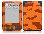 Deathrock Bats Orange - Decal Style Skin fits Amazon Kindle 3 Keyboard (with 6 inch display)