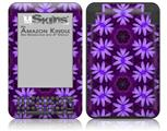 Abstract Floral Purple - Decal Style Skin fits Amazon Kindle 3 Keyboard (with 6 inch display)