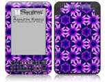 Daisies Purple - Decal Style Skin fits Amazon Kindle 3 Keyboard (with 6 inch display)