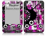 Pink Star Splatter - Decal Style Skin fits Amazon Kindle 3 Keyboard (with 6 inch display)
