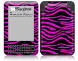 Pink Zebra - Decal Style Skin fits Amazon Kindle 3 Keyboard (with 6 inch display)