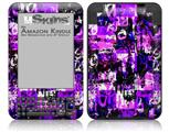 Purple Graffiti - Decal Style Skin fits Amazon Kindle 3 Keyboard (with 6 inch display)