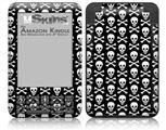 Skull and Crossbones Pattern - Decal Style Skin fits Amazon Kindle 3 Keyboard (with 6 inch display)