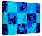 Gallery Wrapped 11x14x1.5  Canvas Art - Blue Star Checkers