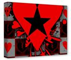 Gallery Wrapped 11x14x1.5  Canvas Art - Emo Star Heart