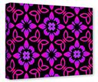 Gallery Wrapped 11x14x1.5  Canvas Art - Pink Floral