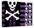 Gallery Wrapped 11x14x1.5  Canvas Art - Skulls and Stripes 6