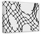 Gallery Wrapped 11x14x1.5  Canvas Art - Ripped Fishnets