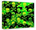 Gallery Wrapped 11x14x1.5  Canvas Art - Skull Camouflage