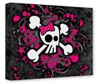 Gallery Wrapped 11x14x1.5 Canvas Art - Girly Skull Bones