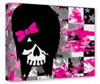 Gallery Wrapped 11x14x1.5 Canvas Art - Scene Girl Skull