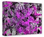Gallery Wrapped 11x14x1.5  Canvas Art - Butterfly Graffiti