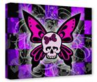 Gallery Wrapped 11x14x1.5 Canvas Art - Butterfly Skull