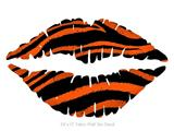 Zebra Orange - Kissing Lips Fabric Wall Skin Decal measures 24x15 inches