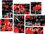 Emo Graffiti - 7 Piece Fabric Peel and Stick Wall Skin Art (50x38 inches)