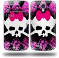 Pink Diamond Skull - Decal Style Skin (fits Samsung Galaxy S IV S4)