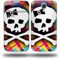 Rainbow Plaid Skull - Decal Style Skin (fits Samsung Galaxy S IV S4)