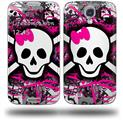 Splatter Girly Skull - Decal Style Skin (fits Samsung Galaxy S IV S4)