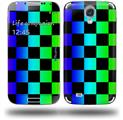 Rainbow Checkerboard - Decal Style Skin (fits Samsung Galaxy S IV S4)