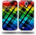 Rainbow Plaid - Decal Style Skin (fits Samsung Galaxy S IV S4)