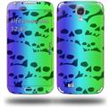 Rainbow Skull Collection - Decal Style Skin (fits Samsung Galaxy S IV S4)