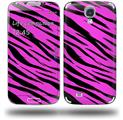 Pink Tiger - Decal Style Skin (fits Samsung Galaxy S IV S4)
