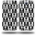 Skull Checkerboard - Decal Style Skin (fits Samsung Galaxy S IV S4)