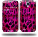 Pink Distressed Leopard - Decal Style Skin (fits Samsung Galaxy S IV S4)