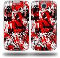 Red Graffiti - Decal Style Skin (fits Samsung Galaxy S IV S4)