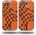 Ripped Fishnets Orange - Decal Style Skin (fits Samsung Galaxy S IV S4)