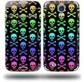 Skull and Crossbones Rainbow - Decal Style Skin (fits Samsung Galaxy S IV S4)