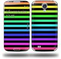 Stripes Rainbow - Decal Style Skin (fits Samsung Galaxy S IV S4)