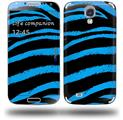 Zebra Blue - Decal Style Skin (fits Samsung Galaxy S IV S4)