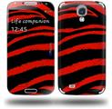 Zebra Red - Decal Style Skin (fits Samsung Galaxy S IV S4)