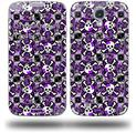 Splatter Girly Skull Purple - Decal Style Skin (fits Samsung Galaxy S IV S4)
