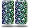 Splatter Girly Skull Rainbow - Decal Style Skin (fits Samsung Galaxy S IV S4)