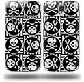 Skull Patch Pattern Bw - Decal Style Skin (fits Samsung Galaxy S IV S4)