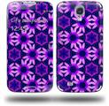 Daisies Purple - Decal Style Skin (fits Samsung Galaxy S IV S4)