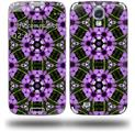 Floral Pattern Purple - Decal Style Skin (fits Samsung Galaxy S IV S4)