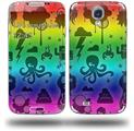 Cute Rainbow Monsters - Decal Style Skin (fits Samsung Galaxy S IV S4)