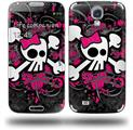 Girly Skull Bones - Decal Style Skin (fits Samsung Galaxy S IV S4)