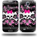 Pink Bow Skull - Decal Style Skin (fits Samsung Galaxy S IV S4)